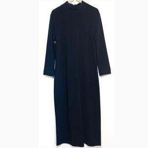 Boston Proper Black Long Sleeve Maxi Dress